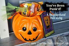 You've Been Punk'd A neighborhood pass along via Free Time Frolics #halloween #pumpkin