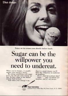 Vintage Weight Loss Ads: A Look At The Health Advice Of Yesteryear (Sugar) www. other-cool-stuff health-beauty Vintage Humor, Funny Vintage Ads, Weird Vintage, Vintage Food, Vintage Stuff, Vintage Posters, Funny Ads, Vintage Recipes, Advertising History