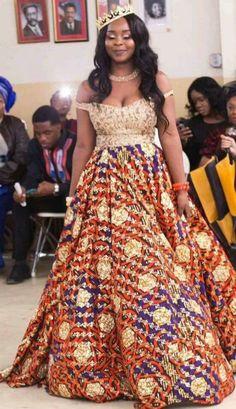 2019 Unique Ankara Styles And Dresses - Dabonke : Nigeria Latest Gist and Fashion 2019 Latest Ankara Dresses, Long African Dresses, African Wedding Dress, African Fashion Dresses, Ankara Gowns, Ankara Fashion, Wedding Dresses, African Inspired Fashion, African Print Fashion