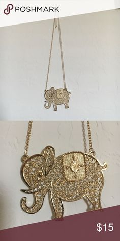 Gold elephant necklace Gold elephant necklace, detailed design. Jewelry Necklaces