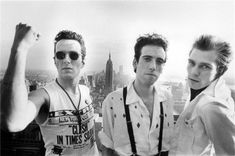 Joe Strumer, Mick Jones and Paul Simonon of The Clash