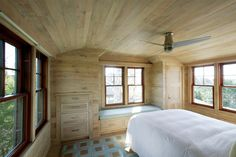 Bedroom built-in wrapped in butternut.   Editor's Choice Award – Fine Homebuilding's 2014 HOUSES Awards - http://www.finehomebuilding.com/houseawards/2014/editors-choice