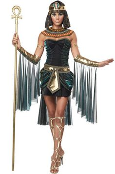 Egyptian Goddess Adult Costume #halloween #cleopatra #costumes