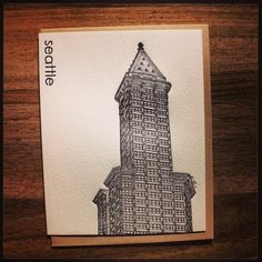 Day 29 - National Card & Letter Writing Month. Seattle. Pike Street Press from the USA. #nclwm2013 #shescreative #letterpress #greetingcard #pikestreetpress #stationery #seattle #usa
