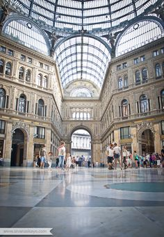 Galleria Umberto, Naples #travel #Italy » I've been here! I got a sfogliatelle in here and it was divine!