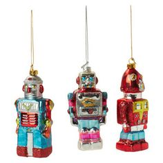 Toy Robot Ornament Set Of 4 by Found by Fab | Fab.com