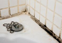 Get rid of mold in bathroom tile grout tricks to prevent and remove grout mold our home from scratch remove black mold from tile and grout shower mold removal how. Mold On Bathroom Ceiling, Mold In Bathroom, Bathroom Cleaning, Bathroom Wall, Bathroom Remodeling, Cleaning Shower Tiles, Bathroom Black, Small Bathroom, Bathrooms
