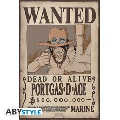 ONE PIECE Poster One Piece Wanted Ace (52x35)  http://www.abystyle.com/fr/posters-format-52-x-38-cm-chibi/1170-one-piece-poster-one-piece-wanted-ace-52x35.html