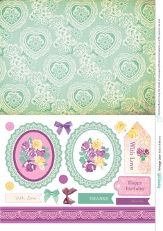 Vintage Lace free printables from Papercraft inspirations issue 140