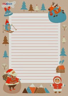 Template for writing Christmas Frames, Christmas Gifts For Kids, Christmas Activities, Christmas Pictures, Merry Christmas, Christmas Templates, Free Christmas Printables, Christmas Letterhead, Free Printable Stationery