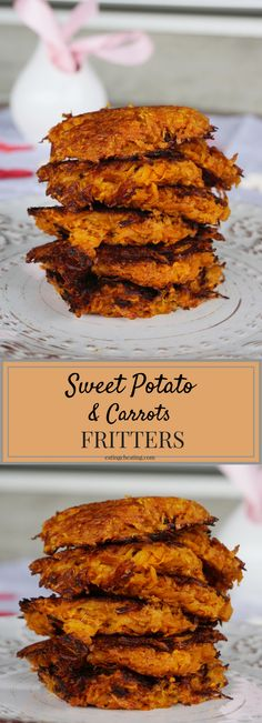 Want some delicious healthy breakfast? Here is the idea for healthy sweet potato fritters. This sweet potato fritters are combined with carrots which makes them one big healthy bomb full of vitamins and fiber! Check out the recipes for this healthy sweet potato fritters! You will love them!