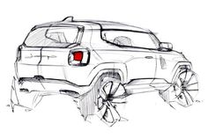 Car Design Sketch, Truck Design, Offroader, Industrial Design Sketch, Kart, Interior Sketch, Hand Sketch, Sketch Inspiration, Car Drawings