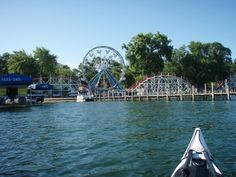 """West Okoboji Lake is the largest of the Iowa Great Lakes, and one of only three lakes in the world considered """"blue water lakes"""". Along with Lake Geneva (Switzerland) and Lake Louise (Canada), West Okoboji is fed by cool, freshwater springs. Okoboji Iowa, Places In California, Best Vacations, Family Vacations, Vacation Spots, Vacation Ideas, Vacation Destinations, The Great Outdoors, Kayaking"""