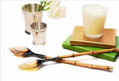 Horn Serving Set with Bamboo Handles. Best Online Shopping Sites, Base Shop, Kitchen Essentials, Frugal, Bamboo, Horn, Stuff To Buy, Sky, Breakfast