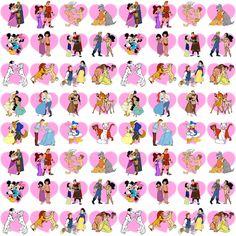 Disney Couple fabric by veronisaurusrexx on Spoonflower - custom fabric