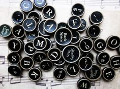 Old typewriter keys. Beautiful, but I would much rather have an entire typewriter.