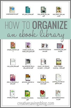 If you've ever purchased an eBook or PDF, you know how easy it is for files to clutter up your hard drive. This simple, yet effective way to organize an eBook library keeps the best digital resources at your fingertips, whether you have 9 eBooks or 90!