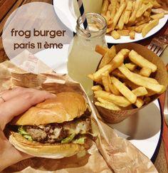Frog's Burger, 19 rue Faubourg Saint-Antoine, 75011 PARIS *** comptez 20€ pour un burger + un accompagnement + une boisson Frogs, Hamburger, Dining, Eat, Ethnic Recipes, Side Dishes, Actor, Drink, Food
