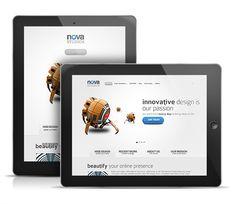 New WordPress Themes Social Media Art, Responsive Web Design, Cool Themes, Web Design Company, Premium Wordpress Themes, Public Relations, Web Development, Blogging, Nova