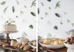 simmer & boyle: vanilla poached pears with mascarpone and sablé biscuits