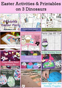 Easter Activities and Printables on 3 Dinosaurs | 3 Dinosaurs