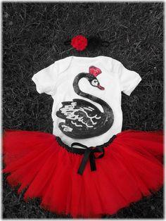 Black Swan Birthday girl Tutu Set