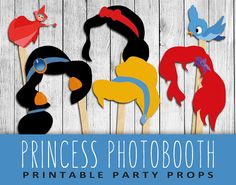 Princess Photo Booth Props Classic Disney by ThePetiteTeapot