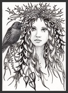 fairy art pen and ink - Google Search