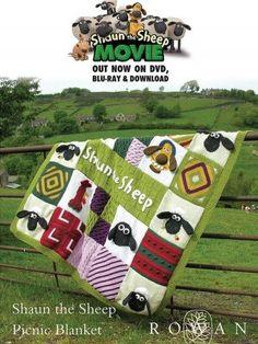 Shaun The Sheep Picnic Blanket