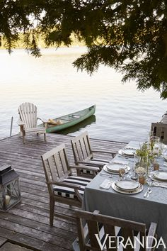10 Stunning Outdoor Areas For Al Fresco Living There's just something about a lake house and a dock side spot to eat. The post 10 Stunning Outdoor Areas For Al Fresco Living appeared first on Architecture Diy. Lake Cottage, Cottage Living, Coastal Living, Living Room, Outdoor Areas, Outdoor Rooms, Outdoor Living, Outdoor Decor, Outdoor Life