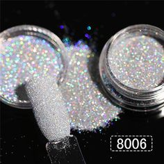 Holographic Glitter Nail Powder Dazzling Nail Sugar Glitter Pigment Dust Manicure Nail Art Tips Decorations 8 Colors Black Gold Nails, Black Gold Jewelry, Metallic Nails, Gradient Nails, Glitter Nail Art, Glitter Toms, Glitter Tattoos, Bright Nails, Sugar Glitter