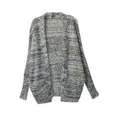 Oversized Sequined Grey Coat ($45) ❤ liked on Polyvore featuring cardigans, outerwear, jackets and sweaters
