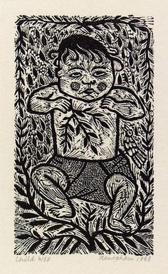 Artist: HANRAHAN, Barbara | Title: Child | Date: 1983 | Technique: wood-engraving, printed in black ink, from one block
