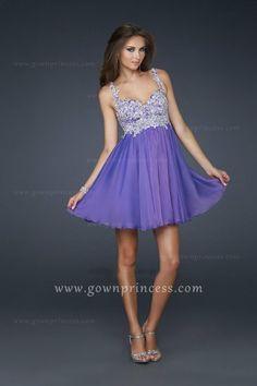 La Femme style 17446 Short Embellished Bodice Purple Homecoming Dresses @ gownprincess.com