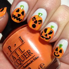 Halloween Nail Art Day 6: Jack-O'-Lanterns | The Nail Trail