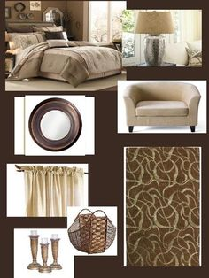 beige and brown bedroom
