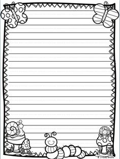 All the writing paper styles you need for holiday and seasonal writing through March, April, and May! 40 printable pages. 1st Grade Writing, Kindergarten Writing, Teaching Writing, Writing Activities, Literacy, Lined Writing Paper, Writing Papers, Write My Paper, Friendly Letter