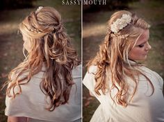 Long Romantic Wedding Hair - Fairy Tale - Sleeping Beauty -