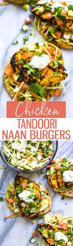 These Tandoori Chicken Naan Burgers are a fun 30-minute dinner idea that's perfect for the BBQ and made using a simple, homemade Indian-inspired spice mix!