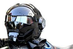 Masei Gloss Black Atomic-Man 610 Open Face Motorcycle Helmet Free Shipping for Harley Davidson