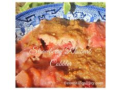 Strawberry Rhubarb Cobbler with coconut flour ~ S ~ THM| CountingAllJoy.com
