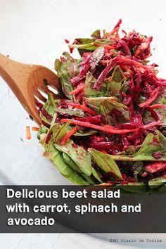 Salad of beet, carrot and spinach with Freschetta pizza #FreschEats # ...
