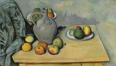 Cezanne, Paul (1839-1906) - 1893-94 Pitcher and Fruit on a… | Flickr