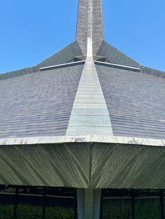 North Christian Church. 1964. Columbus, Indiana. Eero Saarinen Columbus Indiana, Eero Saarinen, Christian Church, Arch, Building, Design, Longbow, Buildings