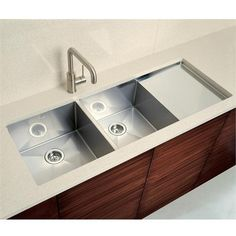 Blancoprecision 10 Double Bowl With Integral Drainboard By Blanco On Homeportfolio