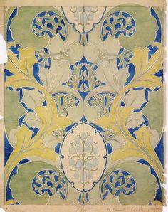 C.F.A. Voysey 1905 Wallpaper Design - Arts & Crafts Home