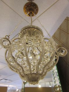 Pair of Italian Crystal Pendants / Chandeliers | From a unique collection of antique and modern chandeliers and pendants  at http://www.1stdibs.com/furniture/lighting/chandeliers-pendant-lights/