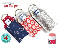 Lip Balm Key Ring Mini Case | Sew4Home