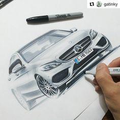 sketch by @orhanokay #car #marker #designsketch #mercedes #copic #art #illustration #drawing #artist #sketch #carsketch #pen #pencil #instaart #gatinky #instagood #copicmarker #creative #instaartist #idsketch #drawtodrive #render