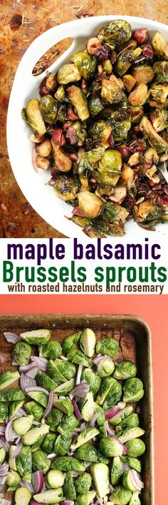 These vegan maple balsamic Brussels sprouts are the perfect vegetable side dish for your holiday meals. Click the photo for the full recipe.